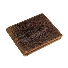 Crocodile Pattern Leather Wallet