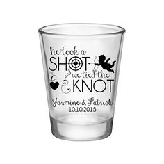 100x He Took A Shot And We Tied The Knot Custom Wedding Shot Glasses by #BartenderWorks on #Etsy. Perfect Wedding Mementos to Remember Your Special Day! #Weddings #WeddingParty #WeddingFavors #Bride #Groom #HeTookAShot #WeTiedTheKnot #SickkJunctions