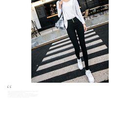 Hyoty Buttoned High Waist Skinny Pants | YESSTYLE