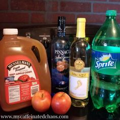Caramel Apple Cider Sangria Recipe - - In a world full of pumpkin spice lattes, be a glass of Caramel Apple Cider Sangria. This is the perfect sangria recipe for your next fall occasion! Best Apple Cider, Spiked Apple Cider, Mulled Apple Cider, Apple Cider Sangria, Homemade Apple Cider, Cranberry Juice, Alcohol Drink Recipes, Sangria Recipes, Punch Recipes