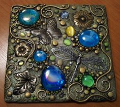 Not a tutorial, unfortunately, but beautiful Polymer Clay art. Butterfly polymer clay plaque by MandarinMoon