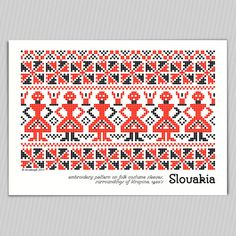 posdcards with traditional Slovak embroidery