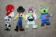 PICK 1 - Disney Toy Story Hair Bow Clip - Jessie, Woody, Buzz Lightyear, or the Alien. $4.00, via Etsy.