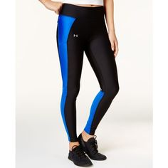 Under Armour Fly By Compression Leggings ($55) ❤ liked on Polyvore featuring activewear, activewear pants, under armour, under armour sportswear and compression sportswear