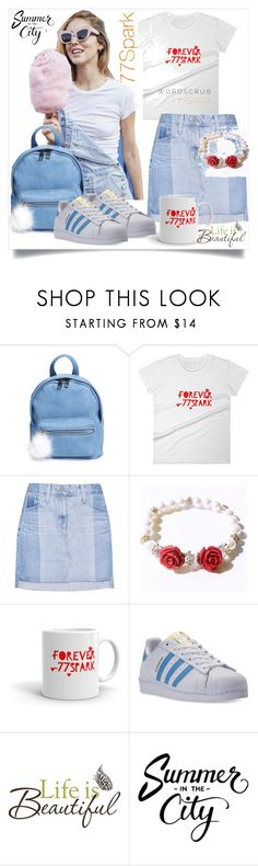 """Bez naslova #133"" by miki-383 ❤ liked on Polyvore featuring BP., AG Adriano Goldschmied, adidas and Brewster Home Fashions"