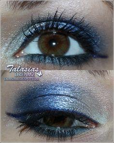 Blue Eye Make Up - Datum: 24.11.2012  http://talasia.blogspot.de/2012/01/amu-swatch-catrice-absolute-eye-colour.html
