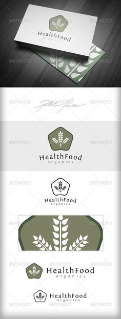 Organic Health Food Logo  Natural Foods Logo — Vector EPS #organic #plant • Available here → https://graphicriver.net/item/organic-health-food-logo-natural-foods-logo/4973571?ref=pxcr