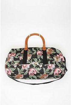 Quilted Floral Weekender Bag