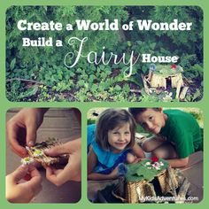 Want to tap your kids' imaginations and spark their senses of wonder? Build an elf or fairy house together from natural materials.