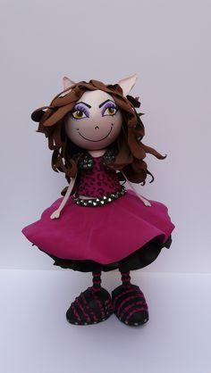 Nuestra Monster High... fochucha realizada por una alumna de nuestro taller en Amarillo