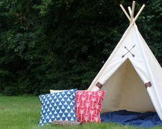 Friendship Teepee™, READY TO SHIP, Kids Teepee Tent, Canvas Teepee Tent, Kids Play Tent, Fort, Playhouse, Poles Included