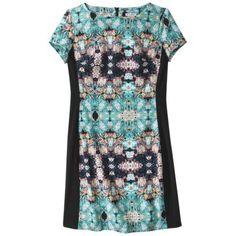 mirror print floral shift dress #TargetStyle #TargetGoesChic