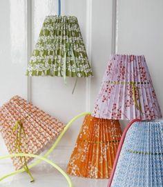Lámparas de papel plisado | Kireei, cosas bellas