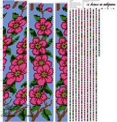 VK is the largest European social network with more than 100 million active users. Crochet Bracelet Pattern, Loom Bracelet Patterns, Crochet Beaded Bracelets, Bead Crochet Patterns, Bead Crochet Rope, Peyote Patterns, Beading Patterns, Collar Redondo, Embroidery Stitches