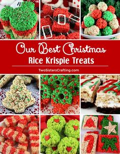 Our Best Christmas Rice Krispie Treats ricekrispiestreats Our Best Christmas Rice Krispie Treats our best and yummiest Christmas Rice Krispie Treat recipes all in one place so you can make the most delicious Christmas Desserts for your family. Save thes New Year's Desserts, Christmas Desserts Easy, Cute Desserts, Simple Christmas, Holiday Treats, Christmas Snacks, Christmas Baking, Holiday Candy, Holiday Baking