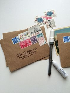Addressed Envelopes with your Silhouette & sketch pens