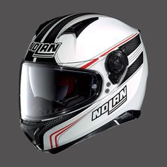 Caschi da moto Integrali NOLAN N87 METAL WHITE BLACK RED