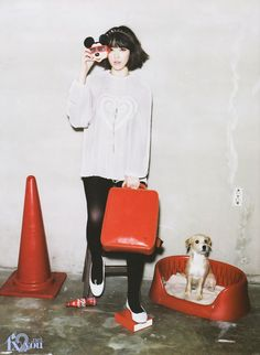Korean idol star Sulli, from girl group f(x), for Oh Boy! Magazine, March 2013