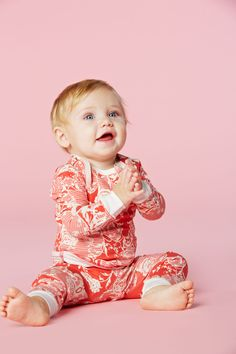 BedHead Pajamas Coral Floral Mesh Baby PJ http://www.bedheadpjs.com/products.aspx?viewall=1&categoryid=140