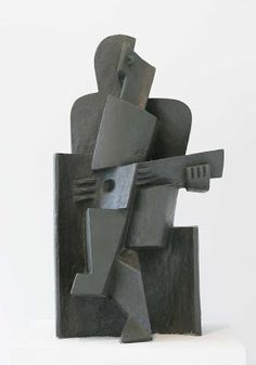 Seated Man with Guitar- Jacques Lipchitz