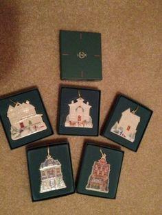 Lenox Victorian Home Ornament Collection