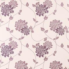 Isodore Grape Purple Floral Wallpaper