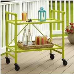 Statra Bamboo Rolling Outdoor Serving Cart   L327A | Outdoor Serving Cart  And Products