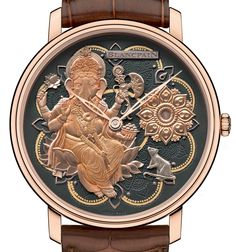 Up now: Blancpain Villeret Métiers D'Art Ganesh Watch - by Dhananjay Pathak - More on this in-house powered Blancpain at aBlogtoWatch.com