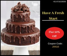 Order cake online in Delhi from YummyCake. Send Eggless Cakes to your loved ones from best shop. Cool Birthday Cakes, It's Your Birthday, Birthday Celebration, Birthday Parties, Online Cake Delivery, Cake Online, Cake Shop, Chocolate Cake, Desserts
