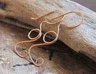 hammered wire earwires- wire beautiful earrings