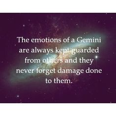 Oh my gosh, this is so true. My daddy was a Gemini, and this fit him perfectly.......Lori