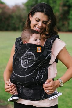 (Standard Size) Full Wrap Conversion Tula Baby Carrier - -Natibaby Treasure Map Midnight