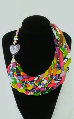 African Print Jewelry, Ankara Necklace, Statement by AfrogenicCollections on Etsy
