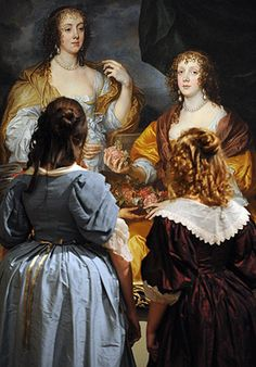 Anthony van Dyck exhibition - Anthony van Dyck exhibition Two girls in costume look at Van Dyck's portrait of Dorothy Savage and her sister Elizabeth, Lady Thimbleby Anthony Van Dyck, Sir Anthony, Historical Costume, Historical Clothing, Anton Van, Pictures At An Exhibition, High Renaissance, Tate Britain, Original Paintings For Sale