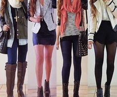 I love the 3rd outfit! Very casual and sweet. I like the 4th outfit next cuz formal yet so hot!