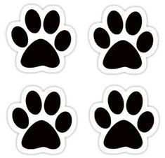 'Paw Print Pack' Sticker by saracreates Paw Patrol Cake, Paw Patrol Party, Perros Paw Patrol, Escudo Paw Patrol, White Fluffy Kittens, Imprimibles Paw Patrol, Paw Patrol Stickers, Paw Patrol Birthday Theme, Paw Patrol Decorations