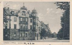 Eine Postkarte aus Landau vom 4. Juli 1936