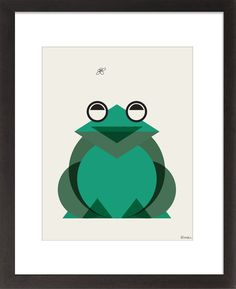 Geometric Frog Print by ModernSouth on Etsy, $18.00