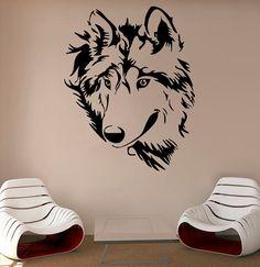 Wolf Wall Vinyl Decal Wolf Wall Vinyl Sticker Animals Decals