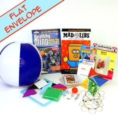 "Flat Pack Camp Care Package. All fits in a 12""x 8.5 "" USPS envelope! #camp #carepackages"