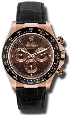 81ab2093e371 Rolex Watches   Rolex Watches - Daytona Everose Gold - Leather Strap -  Style No .