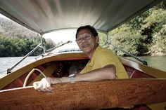 Thai guide on a boat along the River Kwai, Thailand. (Photo taken by Marike Herzberg) Thailand, Boat, River, Selfie, People, Photos, Dinghy, Pictures, Boats