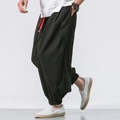Cargo Pants Pants Mens New Fashion Chinese Character Printing Harem Pants Streetwear Men Casual Joggers Trousers Sweatpants Good Heat Preservation