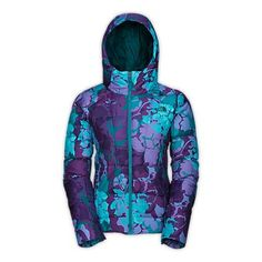 The North Face Destiny hooded down jacket in Flamenco Blue... WANT WANT WANT WANT OH YEAH>>>WANT!