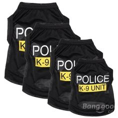 Fashion Police K-9 Unit Puppy Dog T-Shirts Pet Summer Clothes Apparel Costumes…