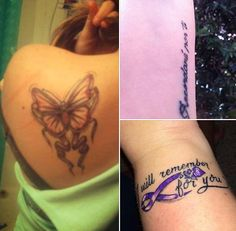 These are some of the tattoos people have had done in honor of loved ones with Alzheimer's.