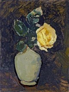 "Helmuth Westhoff ""Gelbe Rose"" Painting, Art, Yellow Roses, Fine Art Prints, Art Ideas, Craft Art, Painting Art, Kunst, Paint"