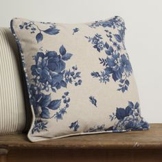 Cotton Cushion in Blue Bloom - one of a range of cushions in gorgeous fabrics  http://www.jim-lawrence.co.uk/mothersday  #mothersday