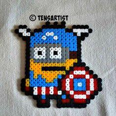 Captain minion #minions #pixelart #tensartist