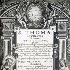 THOMAS DE AQUINO. Summa totius theologiae. Lugduni, Io. Pillehotte, 1608  [www.libriantichionline.com]